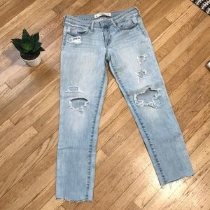 Abercrombie and Fitch distresses jeans